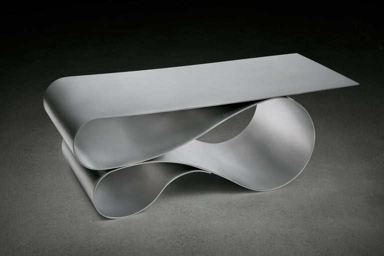 Contemporary Whorl Coffee Table, in Powder Coated Aluminum by Neal Aronowitz For Sale
