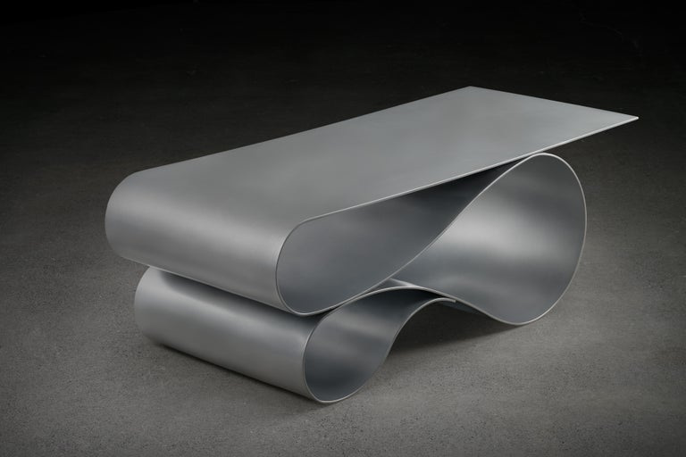 Whorl Coffee Table, in Powder Coated Aluminum by Neal Aronowitz For Sale 1