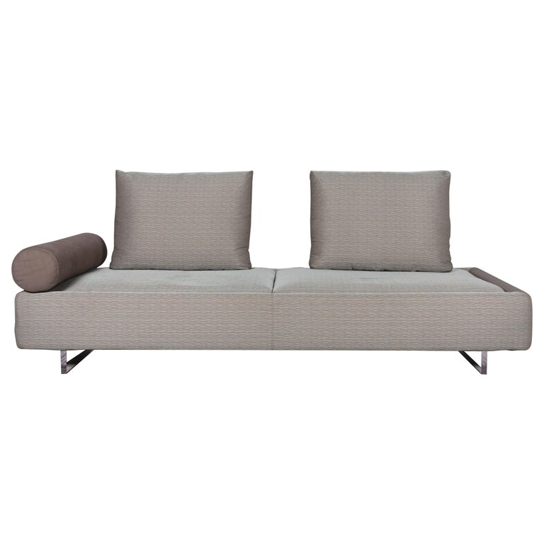 Mint Gray Three Seat Sofa Bed Function