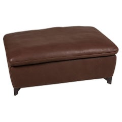 Who's Perfect Minnesota Brown Leather Stool