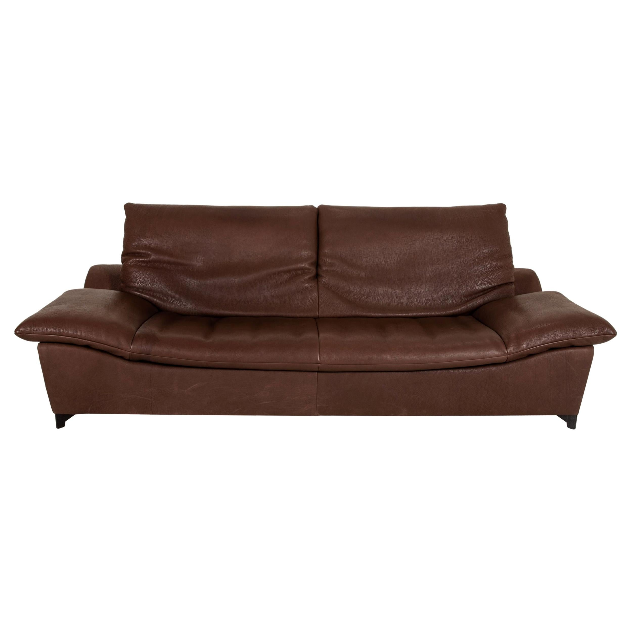 Who's Perfect Minnesota Leather Sofa Brown Three Seater Function