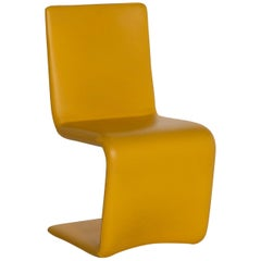 Who's Perfect Venere Leather Chair Yellow