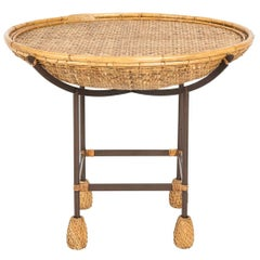 Wicker and Iron Table