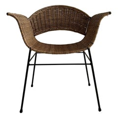 Wicker Armchair, Austria, 1950s