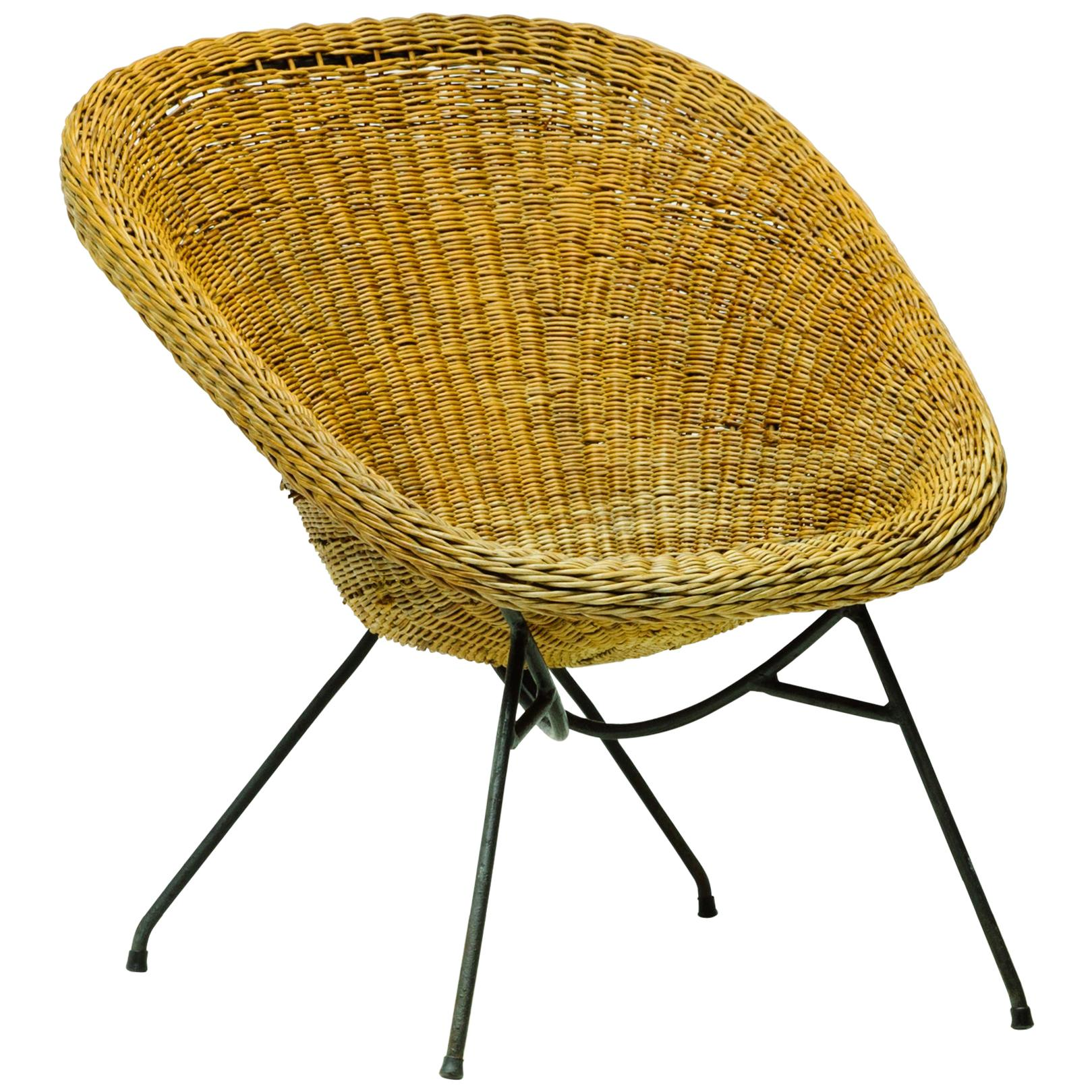 Wicker Armchair by Carlo Hauner and Martin Eisler, Brazilian Midcentury Design
