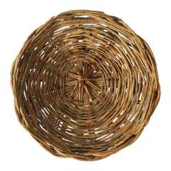 Wicker Basket Centerpiece Catchall, Round