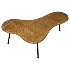 Wicker Biomorphic Cocktail Table