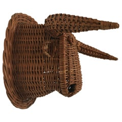 Wicker Bull Head, Spanish, 1950s