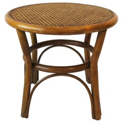 Wicker Cane Rattan Side or End Table