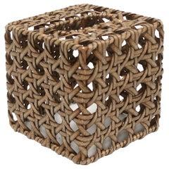 Wicker Cane Tissue Box Cover