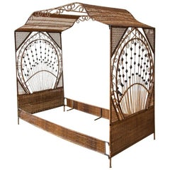 Wicker Canopy Daybed