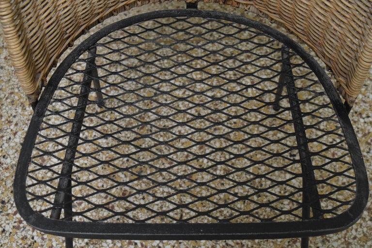 Wicker Chair by Maurizio Tempestini for Salterini For Sale 4