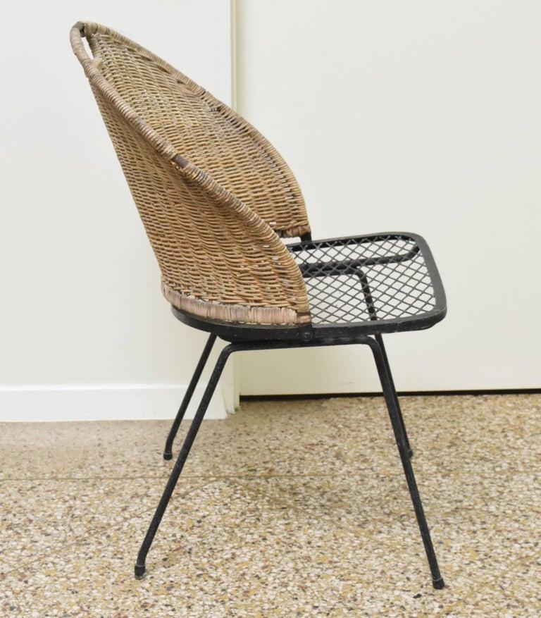 American Wicker Chair by Maurizio Tempestini for Salterini For Sale
