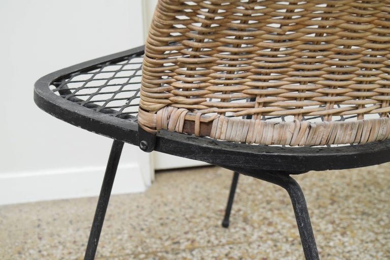 Wicker Chair by Maurizio Tempestini for Salterini For Sale 1