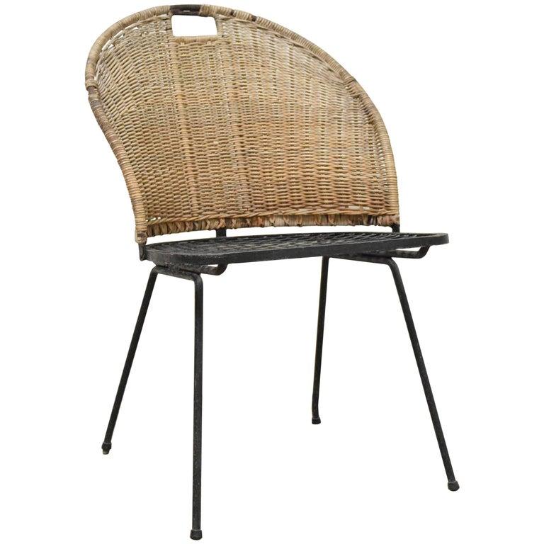 Wicker Chair by Maurizio Tempestini for Salterini For Sale