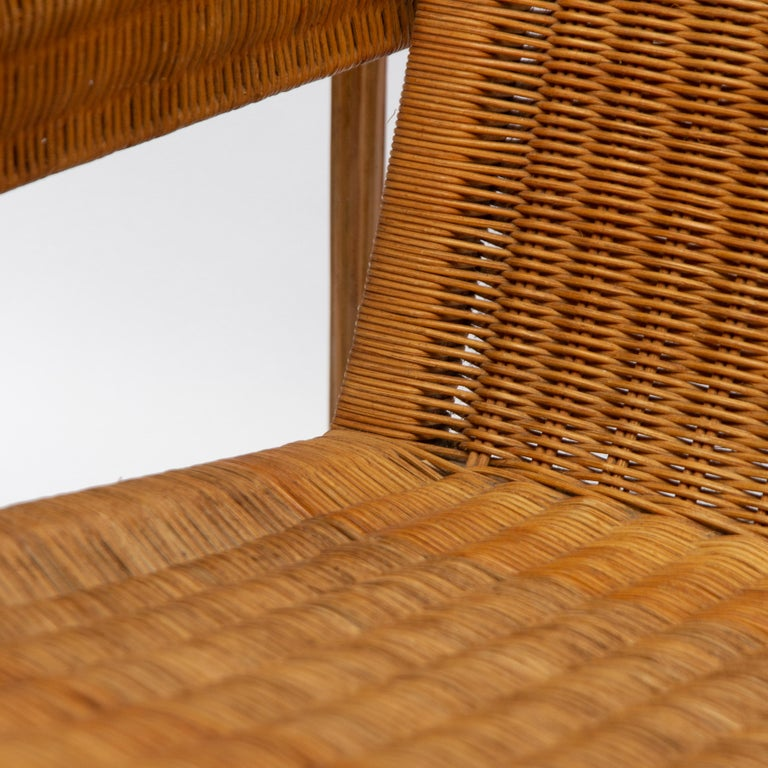 Wicker Chair, Inspired by Marcel Breuer's Wassily Chair, 1970s For Sale 3