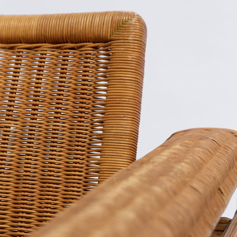 Wicker Chair, Inspired by Marcel Breuer's Wassily Chair, 1970s For Sale 4