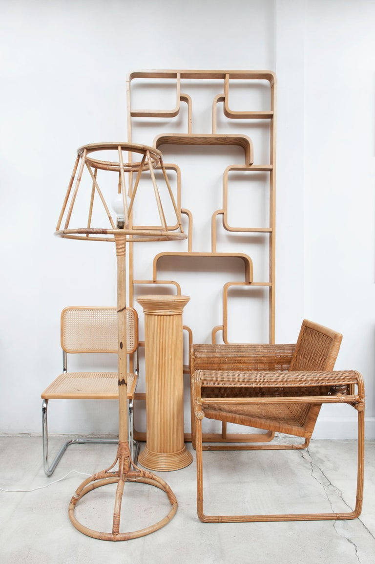 Wicker Chair, Inspired by Marcel Breuer's Wassily Chair, 1970s For Sale 5