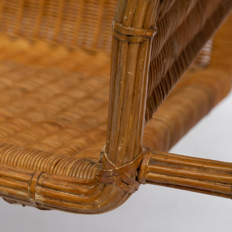 Wicker Chair, Inspired by Marcel Breuer's Wassily Chair, 1970s For Sale 2