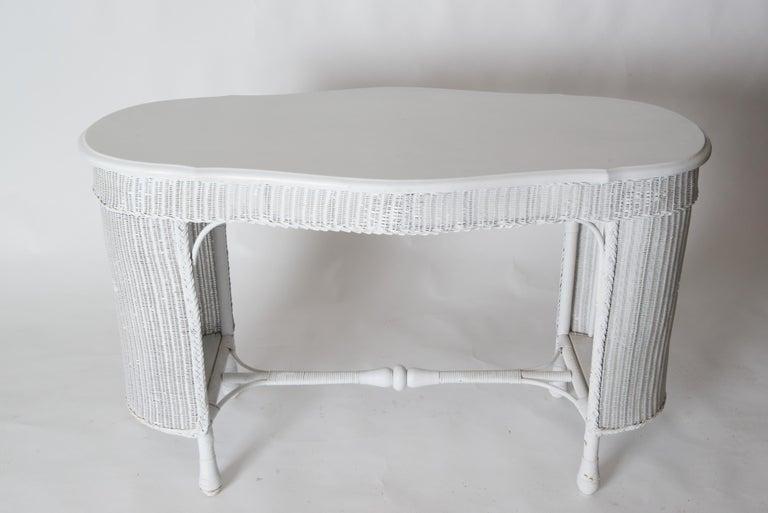Wicker Desk & Chair For Sale 4
