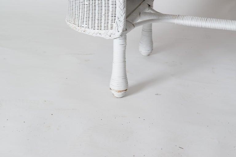 Wicker Desk & Chair For Sale 5