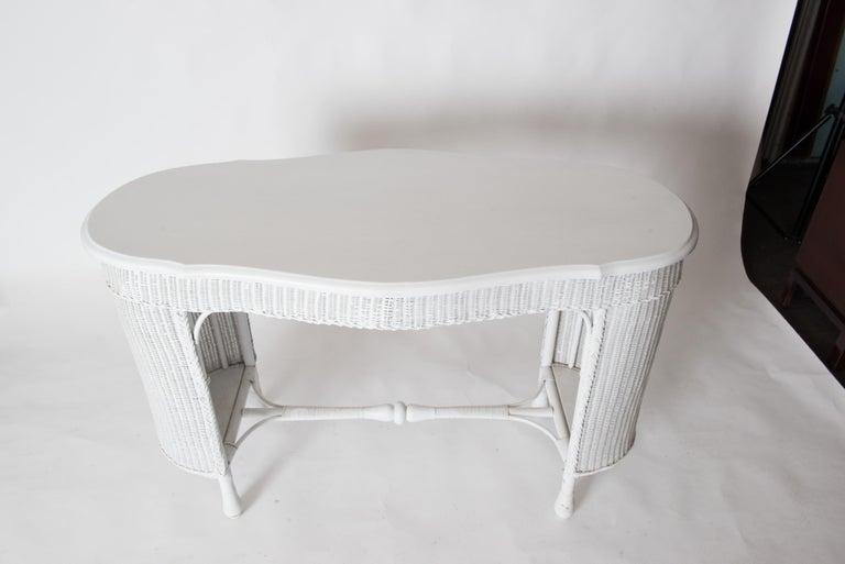Wicker Desk & Chair For Sale 6