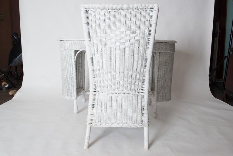 Wicker Desk & Chair For Sale 7