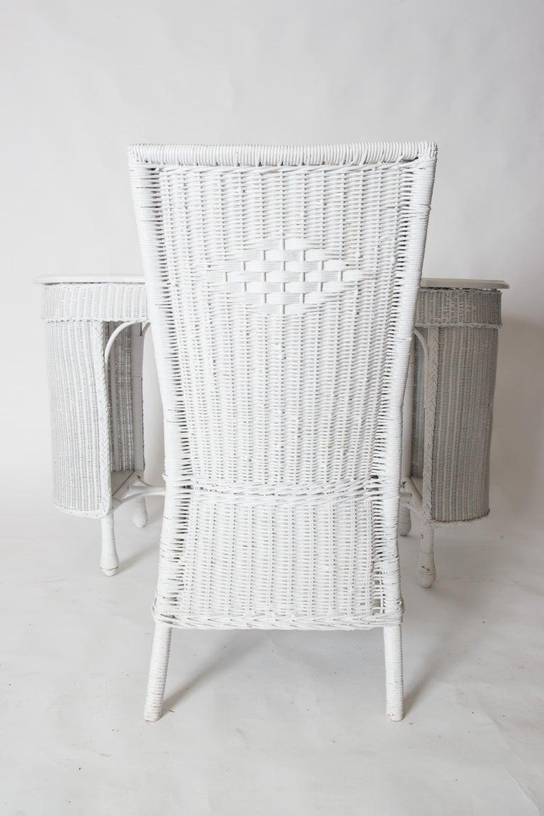 Wicker Desk & Chair For Sale 9