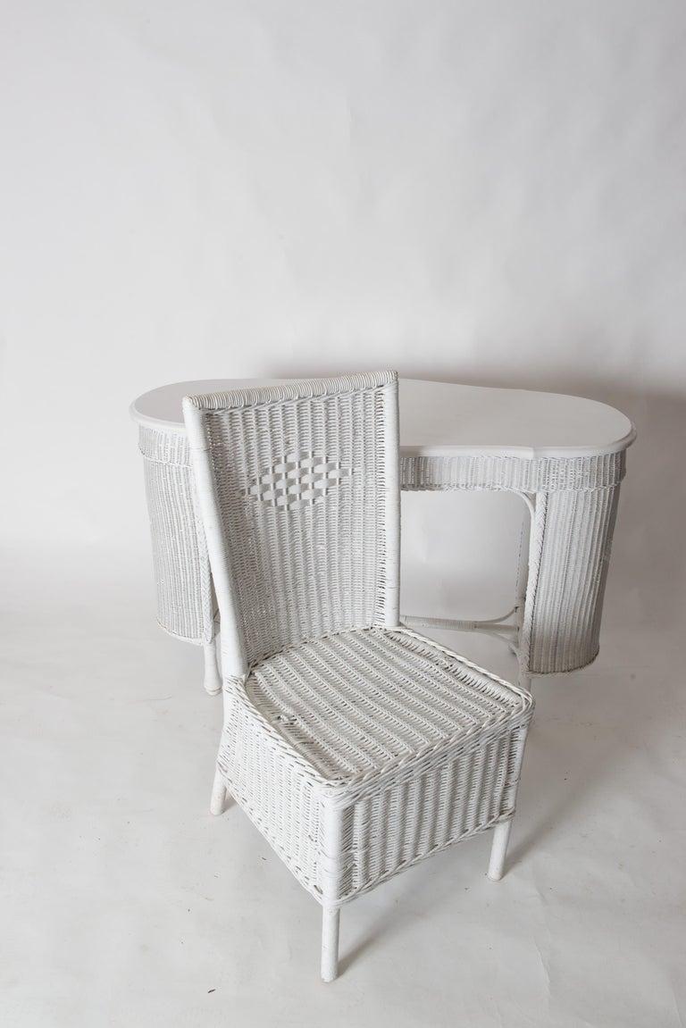 Wicker Desk & Chair For Sale 10