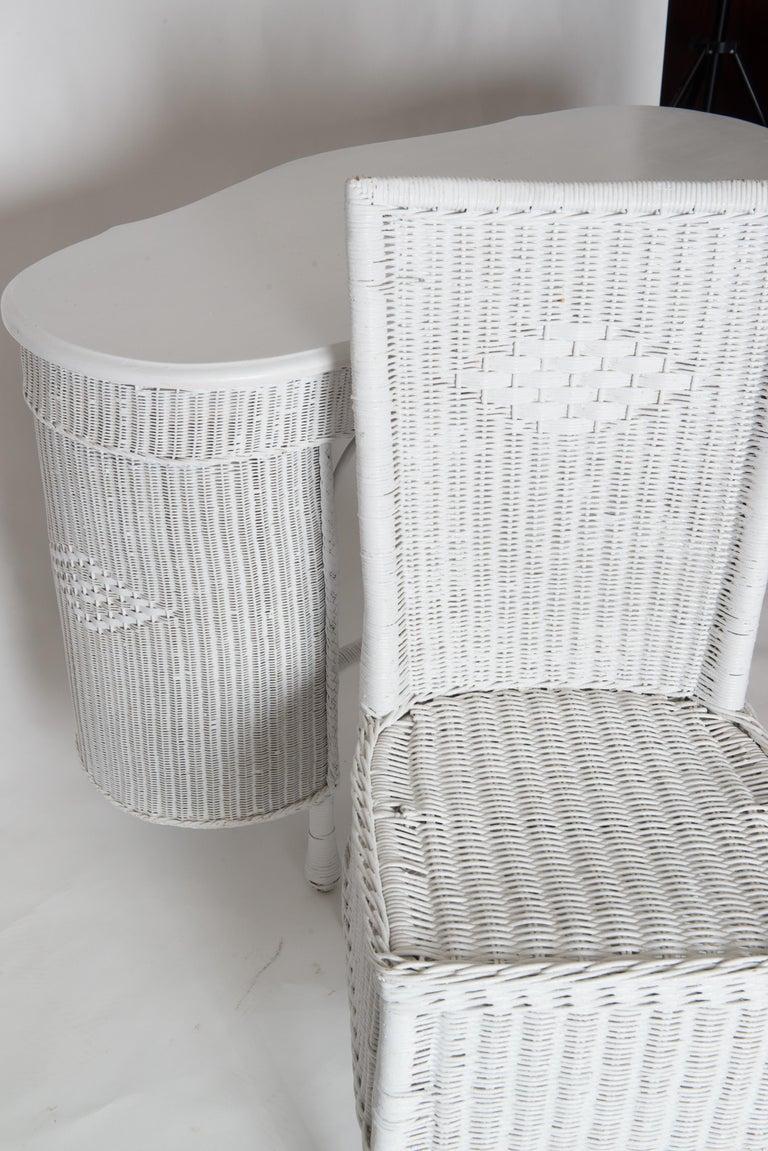 Wicker Desk & Chair For Sale 11