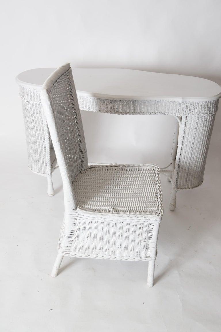 Wicker Desk & Chair For Sale 12