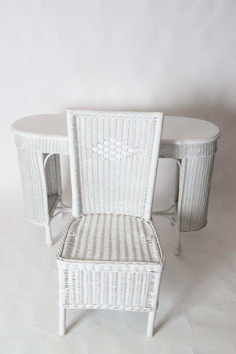 Wicker Desk & Chair For Sale 13
