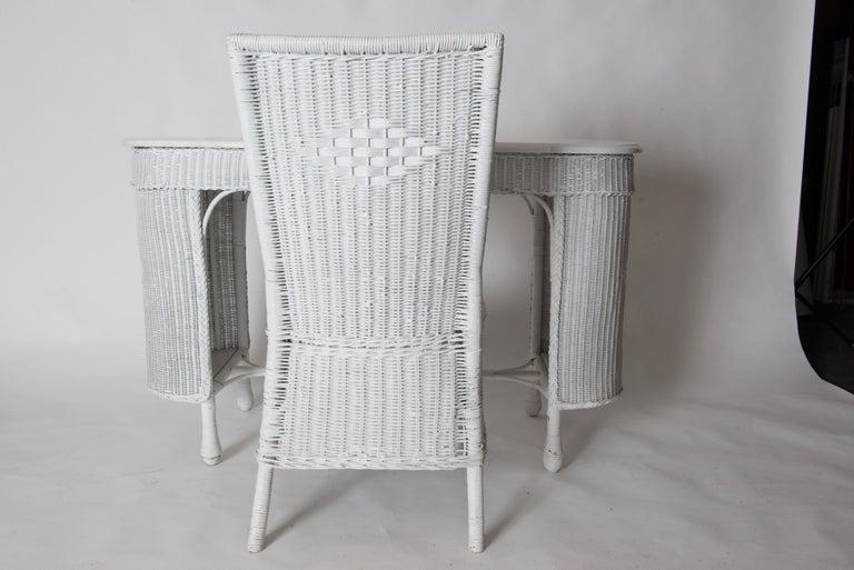 Wicker Desk & Chair For Sale 14