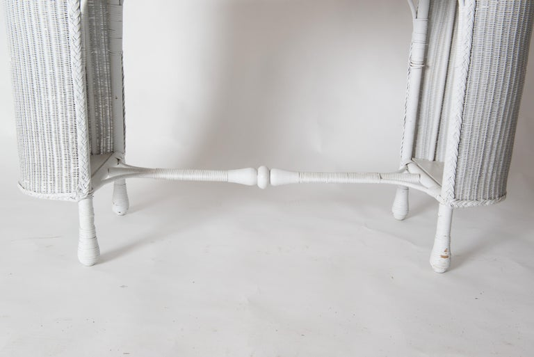 American Wicker Desk & Chair For Sale