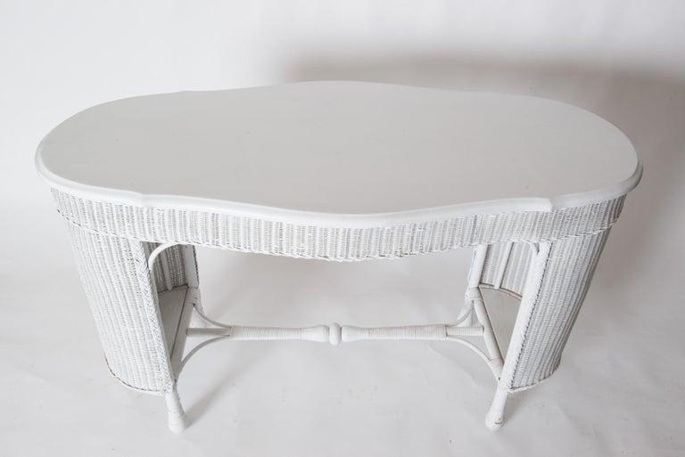 Wicker Desk & Chair For Sale 1