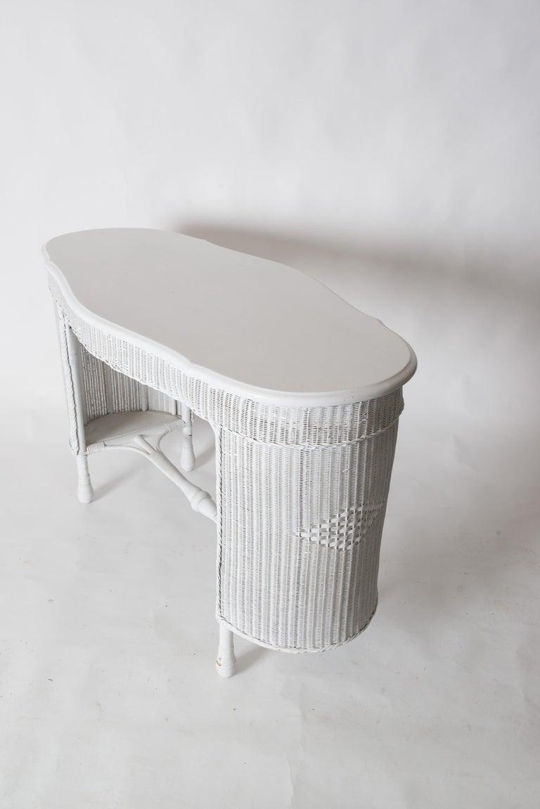 Wicker Desk & Chair For Sale 2
