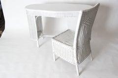 Wicker Desk & Chair