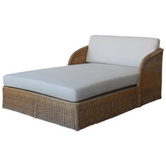 Wicker Double Chaise Daybed by Michael Taylor, USA, 1980s