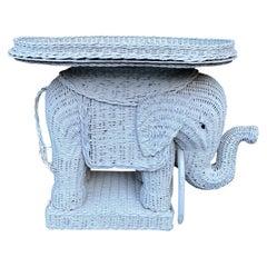 Wicker Elephant Garden Stool, Plant Stand