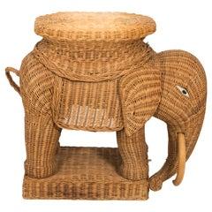 Wicker Elephant Stand
