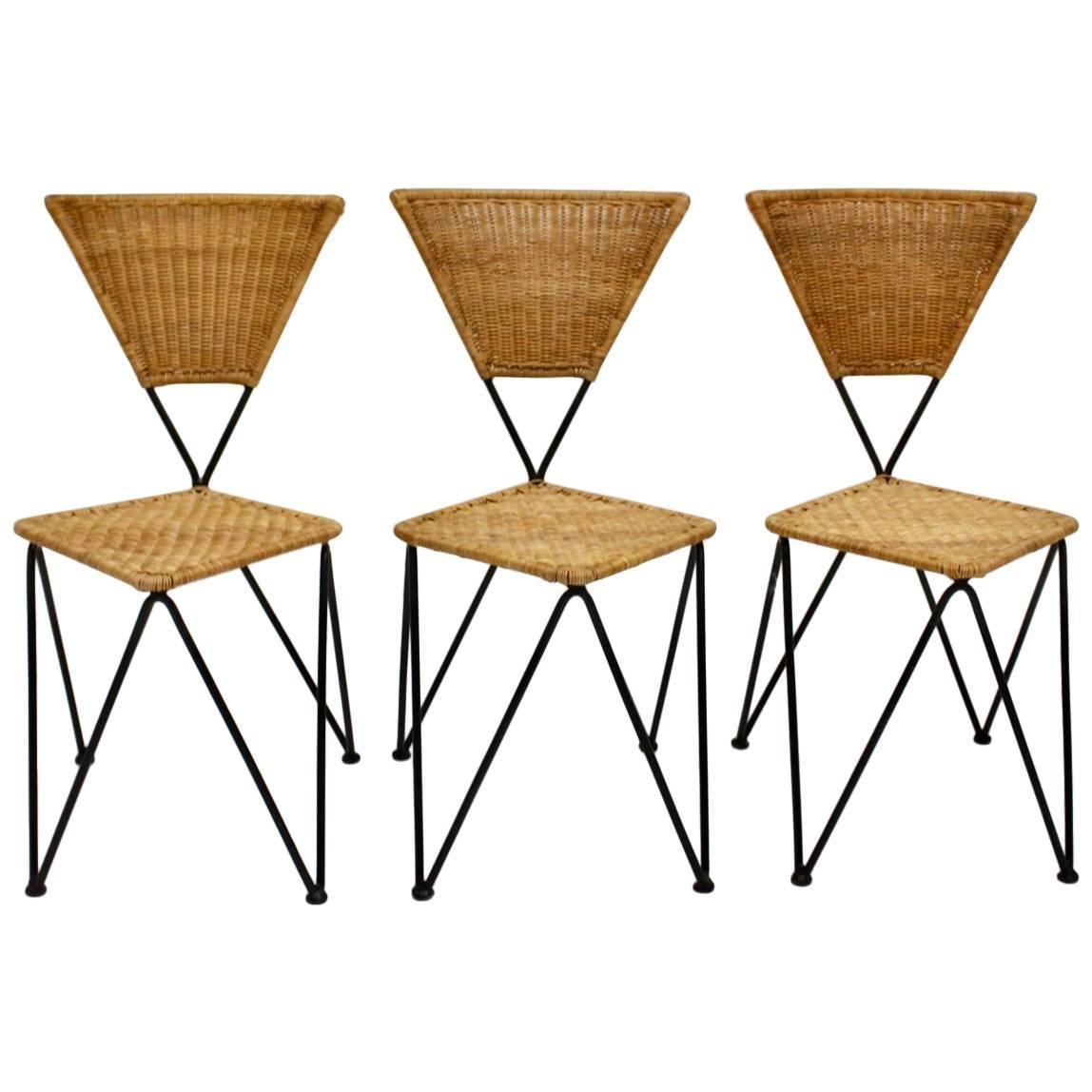 Wicker Vintage Garden Chairs by Karl Fostel Sen's Erben for Sonett Vienna ca1950