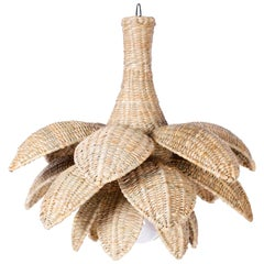 Wicker Lotus Light Fixture or Pendant