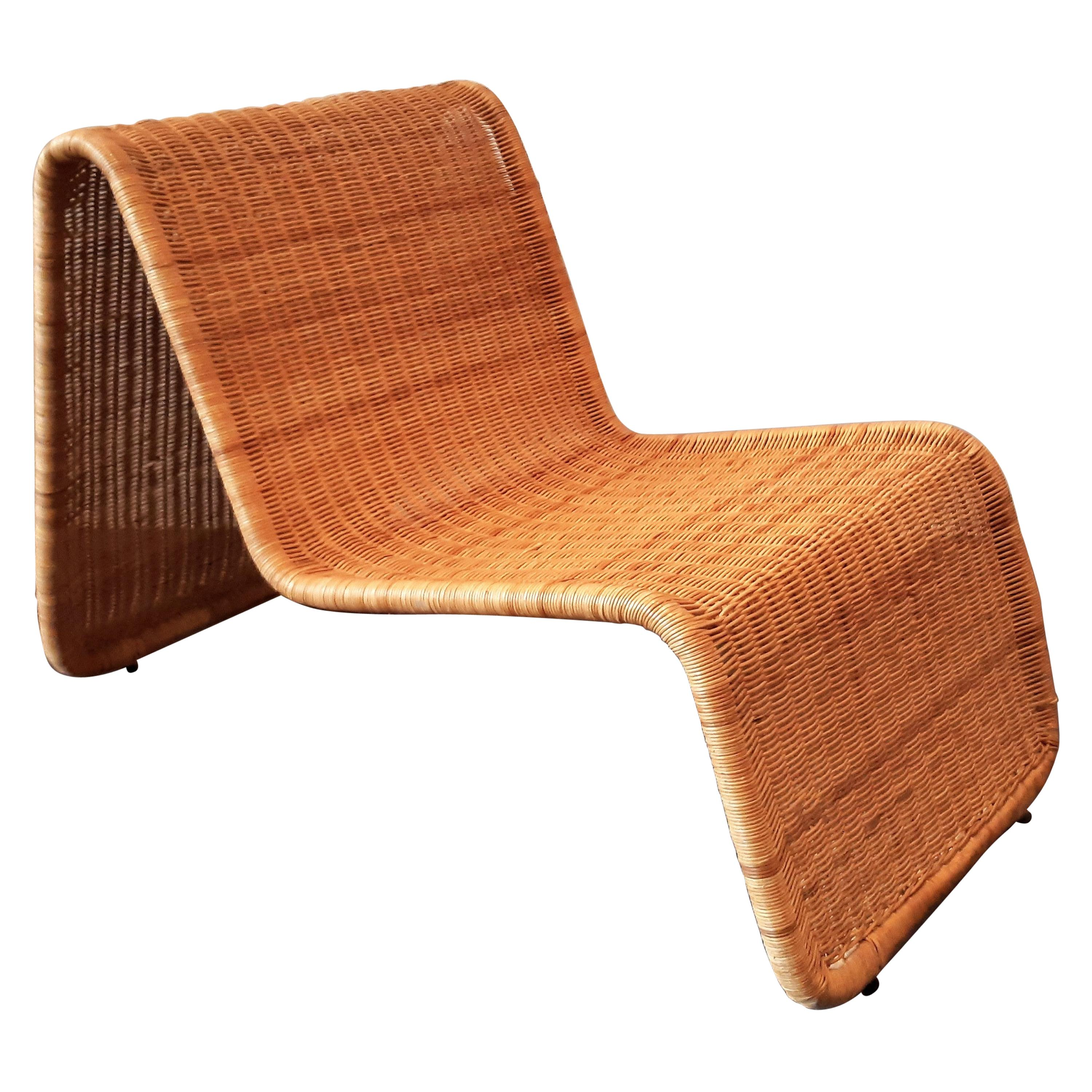 Wicker Lounge Chair, a Design After Tito Agnoli for Ikea, 1960s