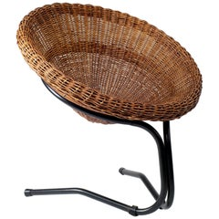 Wicker Lounge Chair by Arnold Bueno de Mesquita for Rohé Noordwolde, 1960s