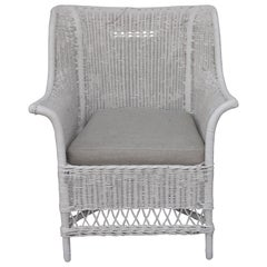 Wicker Painted Armchair from Maine