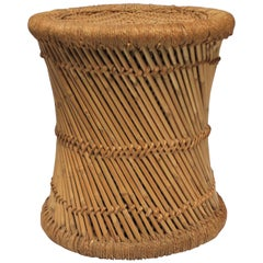 Wicker Pencil Reed Stool