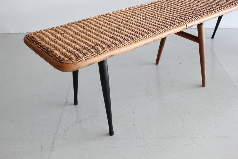 Wicker Picnic Table And Benches At Stdibs - Picnic table los angeles
