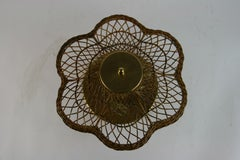 Wicker Semi Flush Mount
