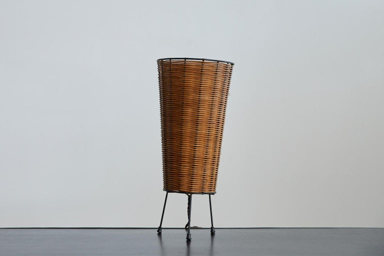 20th Century Wicker Table Lamp For Sale
