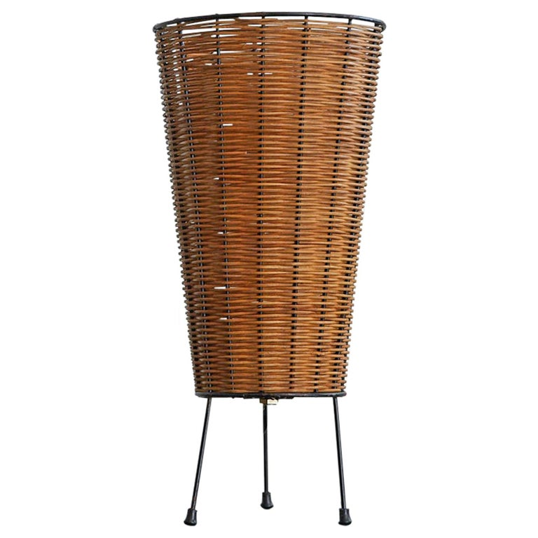 Wicker Table Lamp For Sale